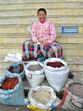 Photo: dried chillies and grain vendor, MHS market