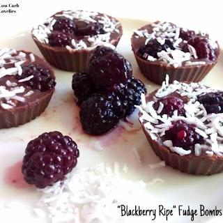 Blackberry Ripe Fudge Bombs