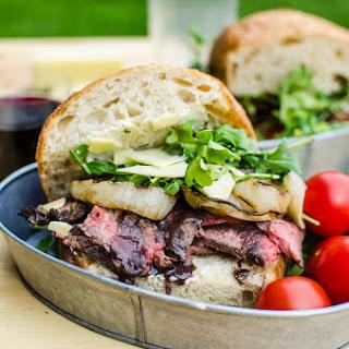 Red Wine Marinated Grilled Steak Sandwich.