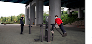 People work out at an outdoor gym amid the coronavirus disease pandemic at a Han river park in Seoul, South Korea on September 16 2020.