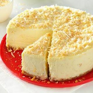 Coconut-White Chocolate Cheesecake