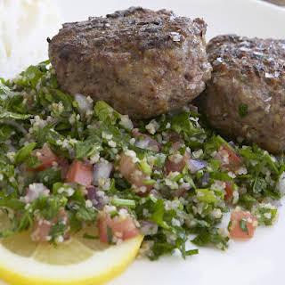 Greek Lamb Patties with Tabbouleh.