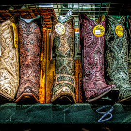 These Boots Are Made For Wearing by Chris Cavallo - Artistic Objects Clothing & Accessories ( shoes, cowboy, maine, cowgirl, shopping, fair, boots,  )