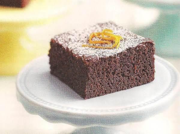 Chocolate Cake  Brownie With Orange And Mascarpone