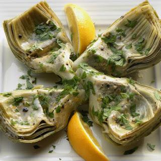 Artichokes with Lemon and Garlic