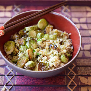 Asian Brussels Sprout Cauliflower Rice.