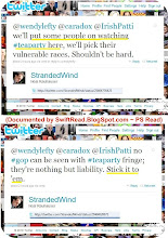 Photo: http://twitter.com/strandedwind/status/25464776425 http://twitter.com/strandedwind/status/25464820072  to http:twitter.com/WendyLefty http://twitter.com/CaraDox  and  http://twitter.com/IrishPatti
