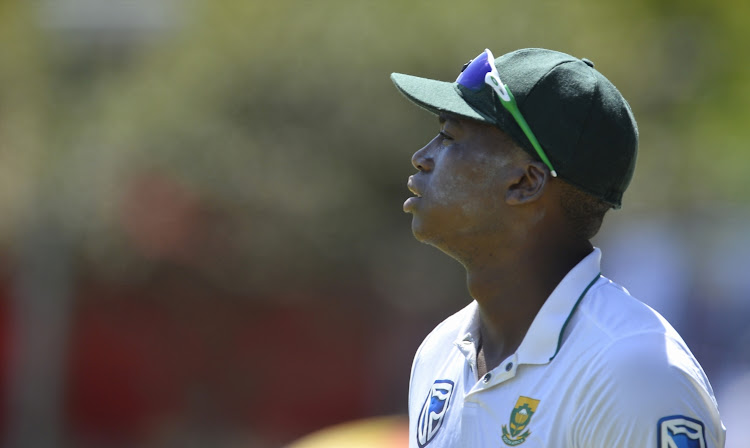 Lungi Ngidi of South Africa during day 3 of the 2nd Sunfoil Test match between South Africa and Australia at St Georges Park on March 11, 2018 in Port Elizabeth, South Africa.