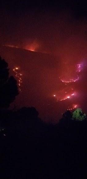 Castala arrasada por el fuego.