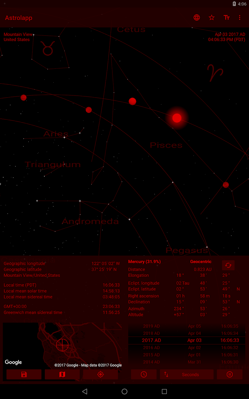 Astrolapp Live Planets and Sky Map Screenshot 11