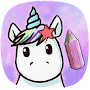 🦄 Unicorn Mythical Creatures Drawing for  Kids APK icon