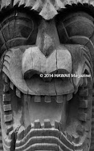 Photo: CULTURE CATEGORY, FINALIST. Carving at Puuhonua o Honaunau National Historical Park, Big Island. Photo by Court Gregson, Lethbridge, Alberta, Canada.