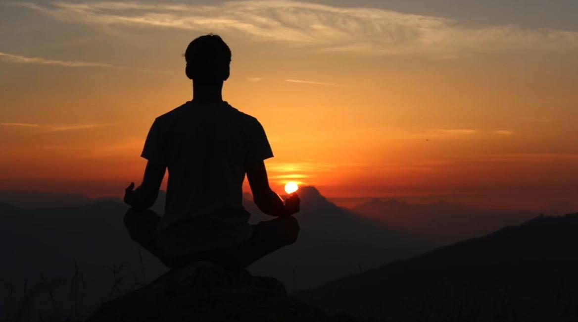 meditation on a mountain sunrise