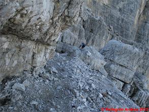 Photo: IMG_4259 la cengia appena sotto la cima