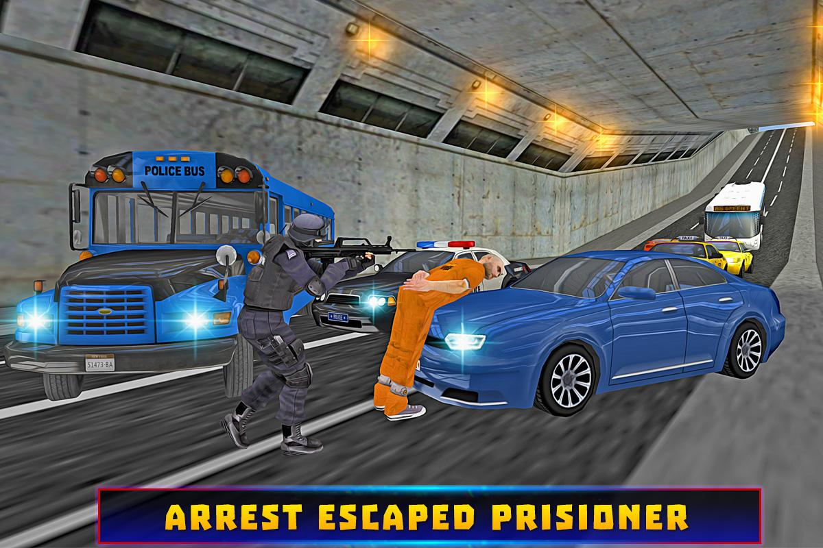 Police Bus Criminal Escape- screenshot
