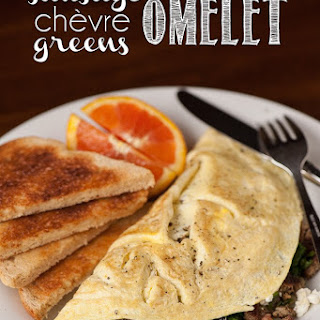 Sausage Chèvre & Greens Omelet