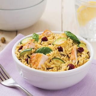 Warm Zucchini and Rice Salad