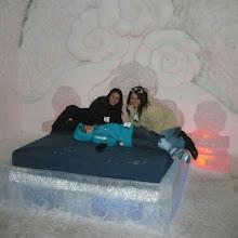 Photo: Las camas y muebles también son de #hielo en este #hotel de #Quebec