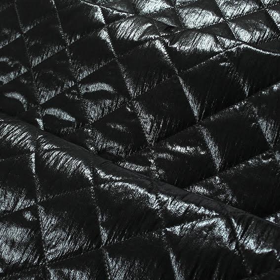 Glans Quiltat Foder - svart