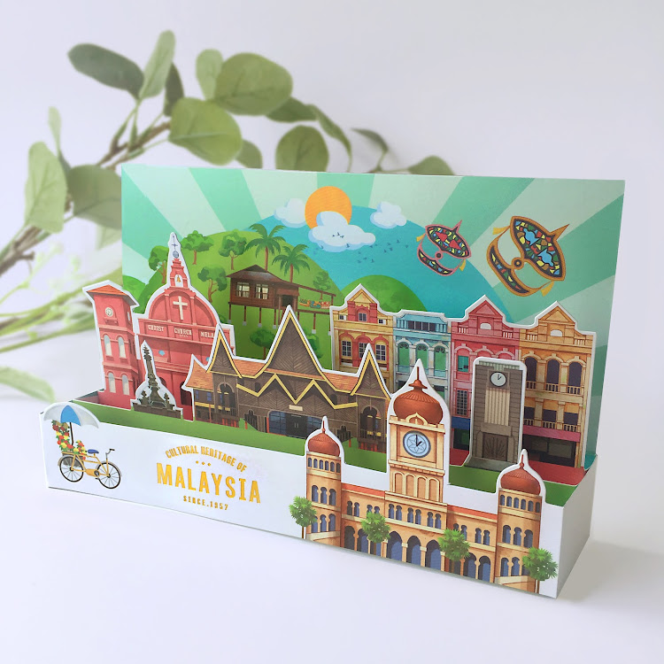 3D Greeting Card: Cultural Heritage Of Malaysia by Loka Made