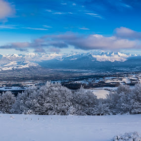 alpes by Carlos Kiroga - Landscapes Mountains & Hills ( ski, winter, mountain, nature, ice, snow, trees, frozen, landscapes, panoramic, photography, alps )