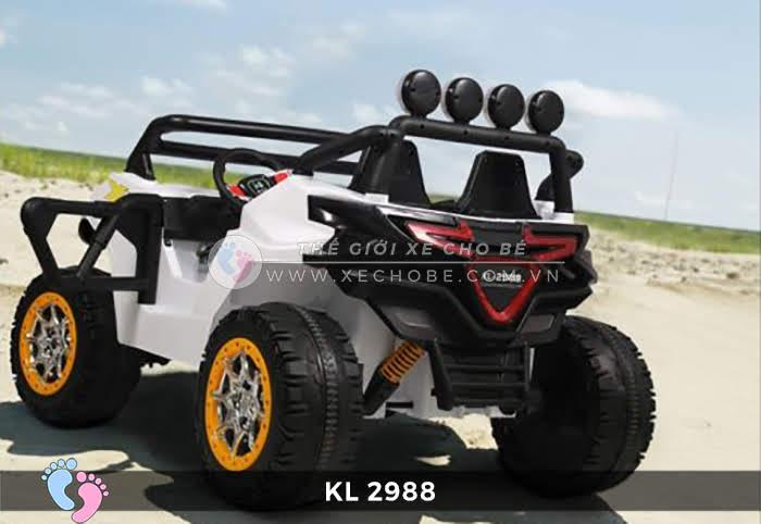 Xe ô tô điện đồ chơi trẻ em KL-2988 ghế da 6