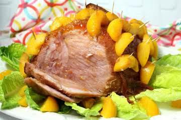 Peach Glazed Ham