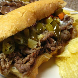 CrockPot Po' Boys (or Italian Beef) Sandwiches.