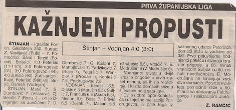 Photo: Glas Istre 11.10.1999. I ŽNL