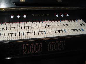 Photo: A piano made to play quarter tones.