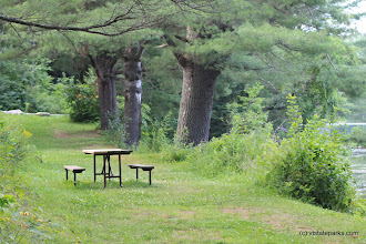 Photo: Picnic spot at Lowell Lake State Park by Lene Gary