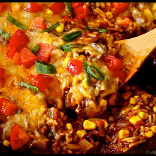 One Pan Southwestern Ground Beef & Dirty Rice Casserole Recipe