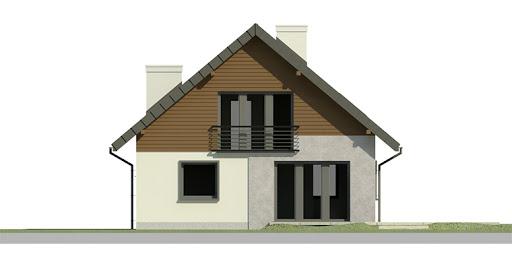 Dom przy Cyprysowej 2 bis - Elewacja tylna