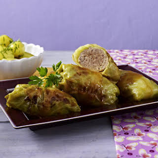 Cabbage Rolls with Parsley Potatoes.