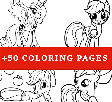 How To Color My Little Pony Coloring Book MLP Poster