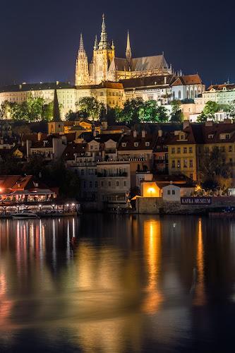 Pague by night by Petar Shipchanov - City,  Street & Park  Night ( reflection, vltava, czech, czech republic, reflections, cathedral, castle, night, praha, light, prague, river, city )
