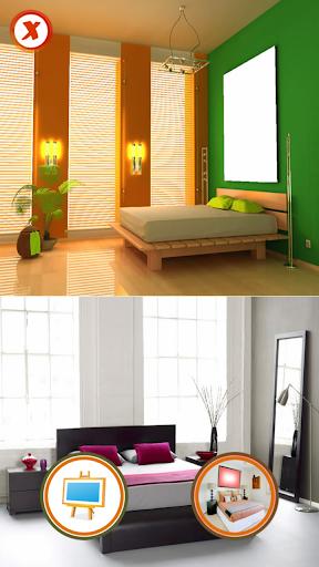 寝室の写真スタジオ