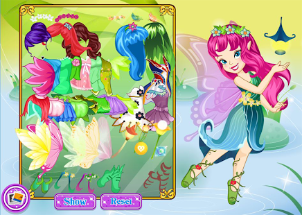Cute butterfly dress up - náhled