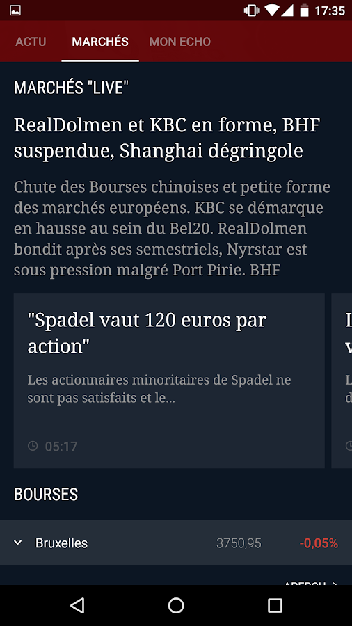 L'Echo- screenshot