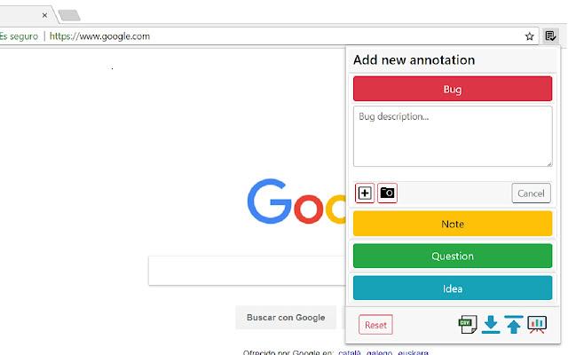Exploratory Testing Chrome Extension