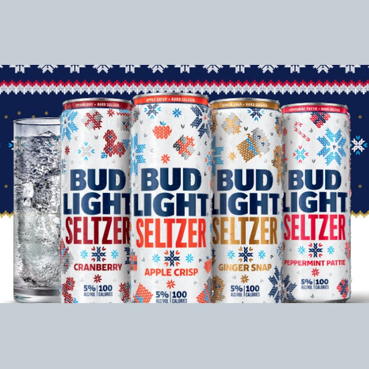 Logo of Anheuser-Busch Bud Light Ugly Sweater Seltzer - Peppermint Patty