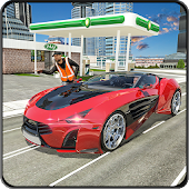 Sports Car Gas Station & Car Wash Simulator 18