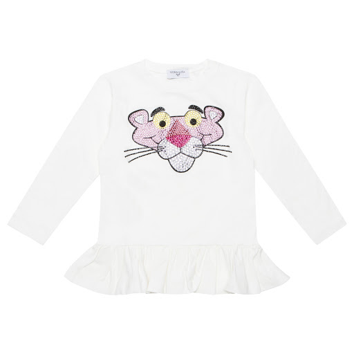 Thumbnail images of Monnalisa Pink Panther Top