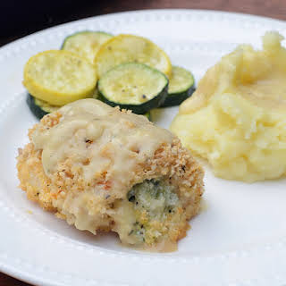 Creamy Broccoli Cheese Stuffed Chicken.