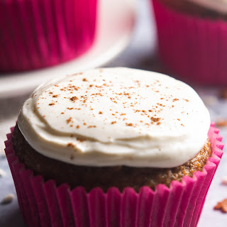Gingerbread Cupcakes with Cream Cheese Frosting.
