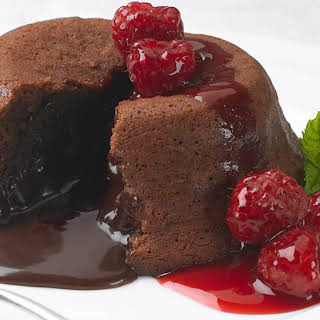 Easy Raspberry Molten Cakes.