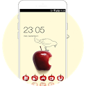 Theme for galaxy j2 ace with red apple screensaver icon