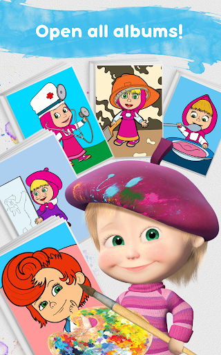 Masha and the Bear: Free Coloring Pages for Kids 1.0.3 screenshots 15