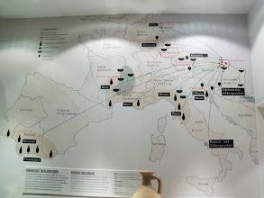 Photo: Römisches Tafelgeschirr - Handelsbeziehungen / Roman tableware - trade relations / Miejsca, z których docierały na teren Vindobony naczynia i produkty.