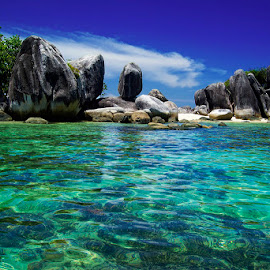 Tukong Island by Eddie Cheever - Nature Up Close Rock & Stone ( belitong, belitung )